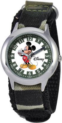 Disney Kids Time Teacher Camo Mickey Watch