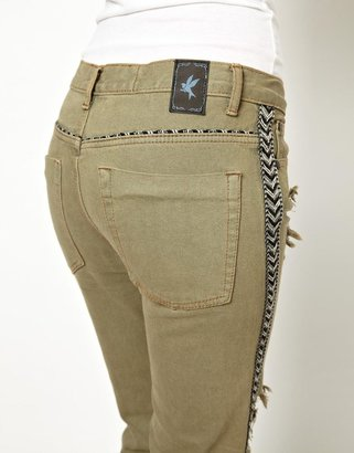 One Teaspoon Ranger Awesome Baggies Jeans with Braid Trim