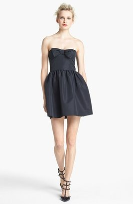 RED Valentino Strapless Bow Detail Dress