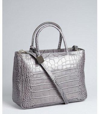 Furla stone lizard embossed leather 'Practica' bag