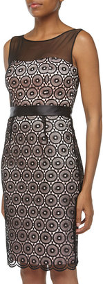Laundry by Shelli Segal Sleeveless Lace Cocktail Dress, Black