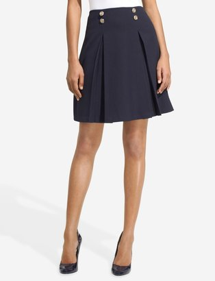 The Limited High Waist Inverted-Pleat Sailor Skirt