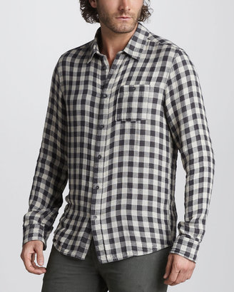 7 For All Mankind Double-Face Check Sport Shirt