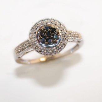 Black Diamond 10k White Gold 1/4-Ct. T.w. Ring