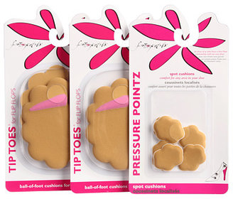 Foot Petals 2 Pairs of Flip-Flop Tip Toes® & 3 Pairs of Pressure Points®