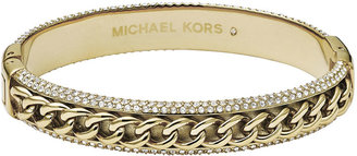 Michael Kors Curb-Chain/Pave Bangle, Golden