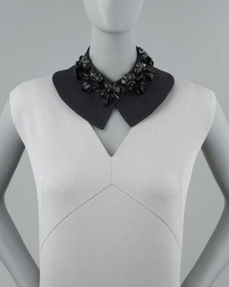 Marni Beaded Collar Necklace, Black