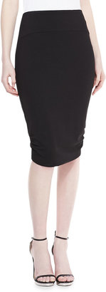 Badgley Mischka Ponte Pencil Skirt, Black