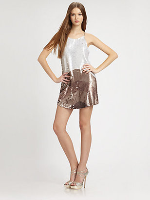Parker Sleeveless Sequined Dress