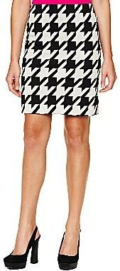 JCPenney Worthington® Houndstooth Ponte Pencil Skirt - Petite