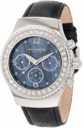 Akribos XXIV Women's AKR449BK Ultimate Swiss Chrono Black Watch