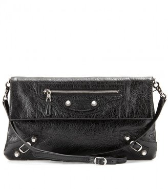 Balenciaga GIANT 12 LEATHER ENVELOPE CLUTCH WITH SHOULDER STRAP