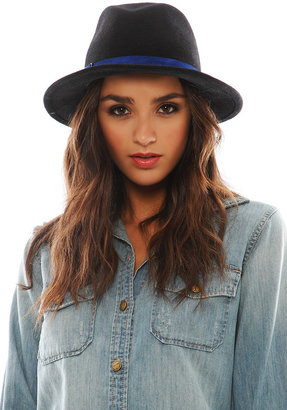 Eugenia Kim Theo 2 Fedora in Black/Cobalt