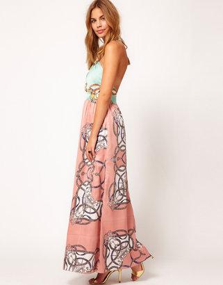 Rare Scarf Print Maxi Dress