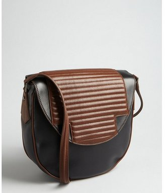 Hudson Reece black and brown leather 'No. 4' shoulder bag