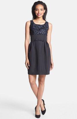 Taylor Dresses Mixed Media Sheath Dress