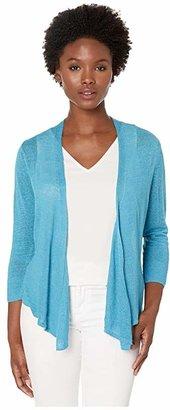 Nic+Zoe Petite 4-Way Cardy (Deep Turquoise) Women's Sweater