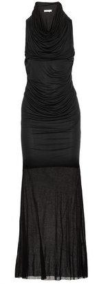Helmut Lang Draped modal-jersey maxi dress