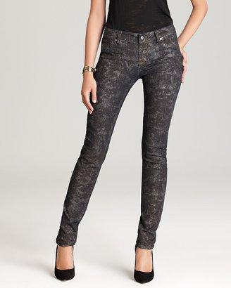 Aqua Jeans - Purple Snake Printed Skinny Jeans