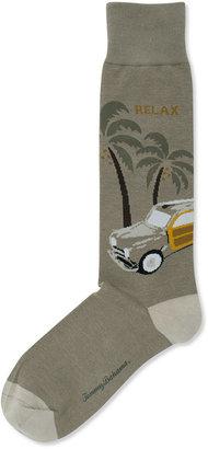 Tommy Bahama Men's Socks, Woody Wagon Novelty Print Casual Crew Sock