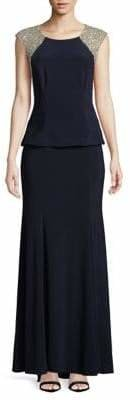 Xscape Evenings Embellished Peplum Gown