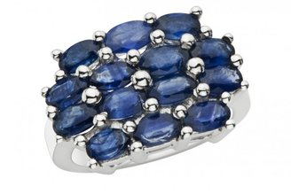 Ice 4 3/4 CT TGW Sapphire Fashion Ring Silver