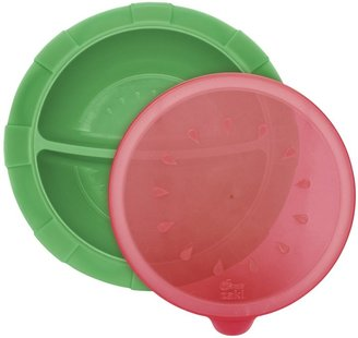 Sears Dr. Divided Bowl - Green/Red - 6 Months