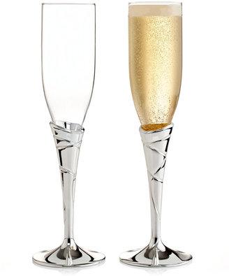 Lenox CLOSEOUT! Champagne Flutes, Set of 2 Adorn Metal