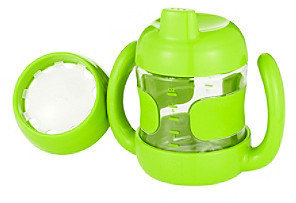 OXO TOT Green 7-oz. Sippy Cup Set