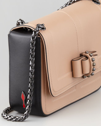 Christian Louboutin Sotto Sweet Charity Shoulder Bag, Neutral