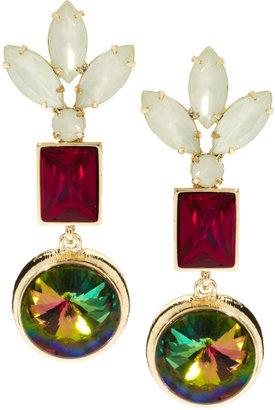 Asos Irridescent Crystal Earrings