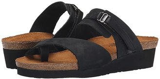 Naot Footwear Jessica (Black Shiny Leather/Black Nubuk) Women's Sandals