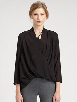 Helmut Lang Lyra Draped Top