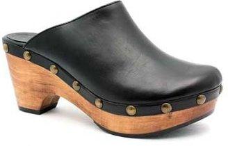 "Cordani Zorba"" Black Leather Wooden Clog"