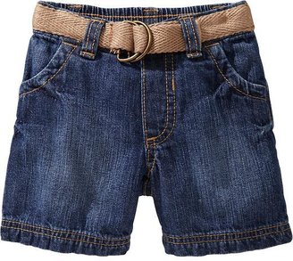 Old Navy Canvas-Belted Denim Shorts for Baby
