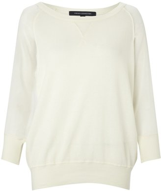 French Connection Ditton Crepe Sleeve Sweatshirt
