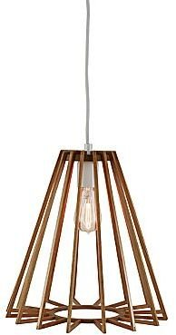 JCPenney Pendant Ceiling Light with Wood Triangle Shade