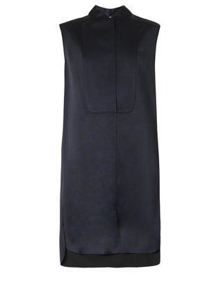 3.1 Phillip Lim Bonded silk-satin sleeveless dress