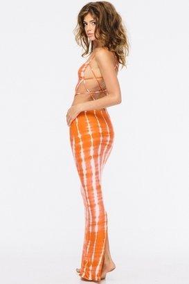 Indah Tamaa Maxi in Garis Orange $194 thestylecure.com