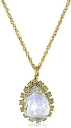 """Liz Palacios Crystales Opalos"""" Crystal Teardrop Long Chain Necklace"""