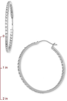 Nordstrom 'Inside Out' Cubic Zirconia Hoop Earrings