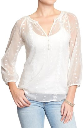 Old Navy Women's Embroidered Boho Tops