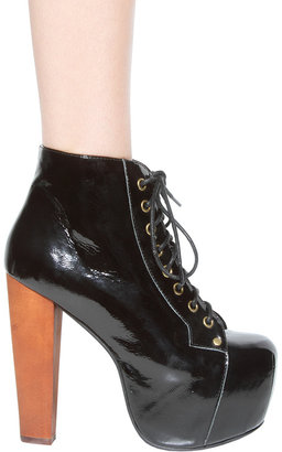 Jeffrey Campbell Lita Shoe in Black Patent Leather -