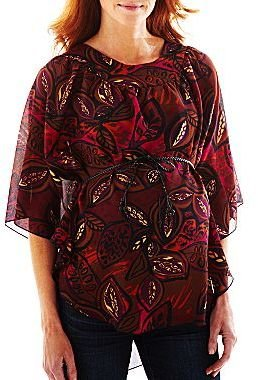 JCPenney Maternity Belted Poncho