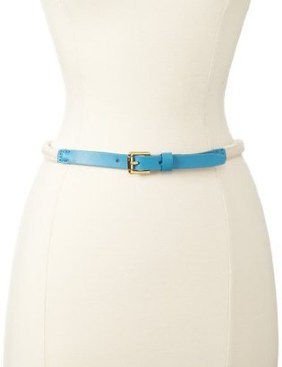 Vince Camuto Women's Skinny Leather Belt With Buckle
