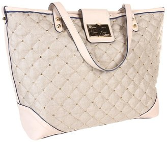 Juicy Couture Karla Metallic Linen Tote (Angel) - Bags and Luggage