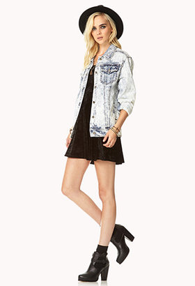 Forever 21 Street-Chic Acid-Wash Denim Jacket