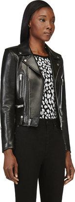 Saint Laurent Black Classic Lambskin Biker Jacket