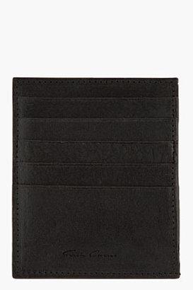 Rick Owens Black textured leather Credit Card Holder