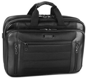 """Kenneth Cole Reaction An Easy Decision"""" Double Gusset Checkpoint Friendly Laptop Brief"""
